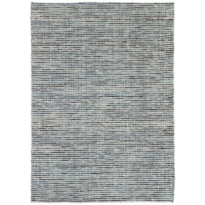 Scandi Reversible Wool Rug, 160x230cm, Teal