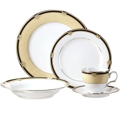Noritake Braidwood Fine China 20 Piece Dinner Set