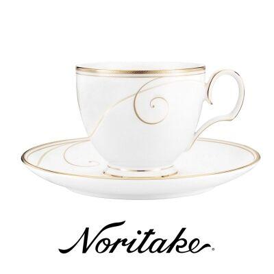 Noritake Golden Wave Fine China Teacup and Saucer