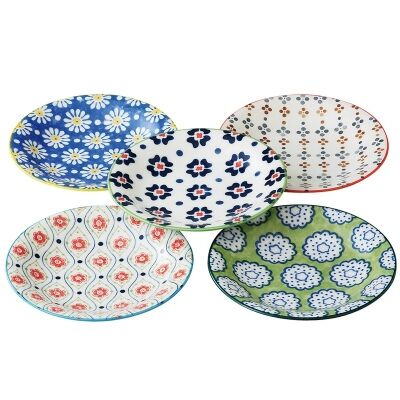 Mino Japan Table Talk 5 Piece 16.5cm Plate Set