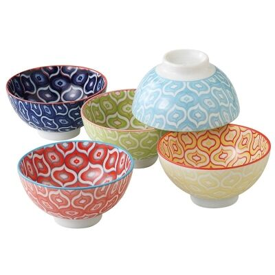 Mino Japan Table Talk 5 Piece 11.5cm Bowl Set