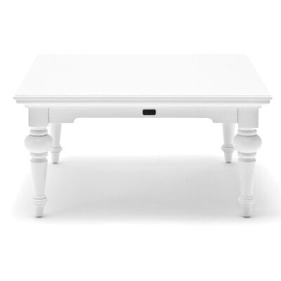 Provence Mahogany Timber Square Coffee Table, 100cm