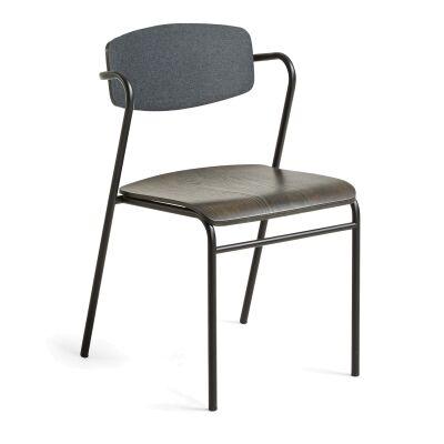 Moritz Dining Chair, Graphite / Espresso
