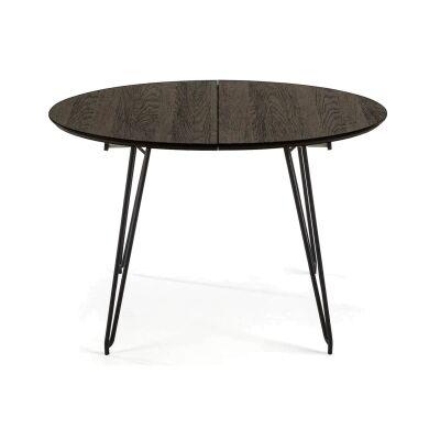 Macleod Ashwood & Metal Extendatble Round Dining Table, 120-200cm