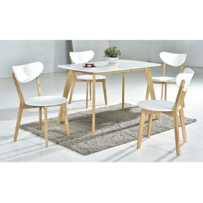 Norway 5 Piece Dining Table Set, 120cm