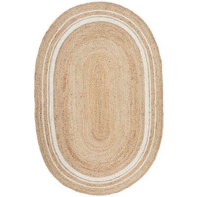 Noosa No.111 Jute Oval Rug, 220x150cm
