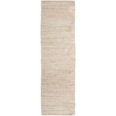 Noosa No.444 Jute Runner Rug, 300x80cm