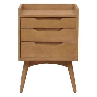 Molton Hand Crafted Mango Wood 3 Drawer Bedside Table