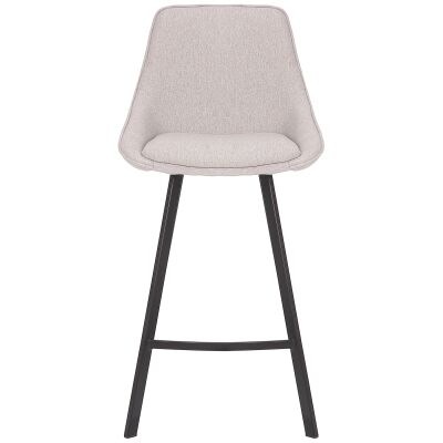 Nemo Commercial Grade Stain Resistant Waterproof Fabric High Back Kitchen Stool, Light Grey