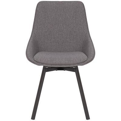 Nemo Commercial Grade Stain Resistant Waterproof Fabric Swivel Dining Chair, Dark Grey