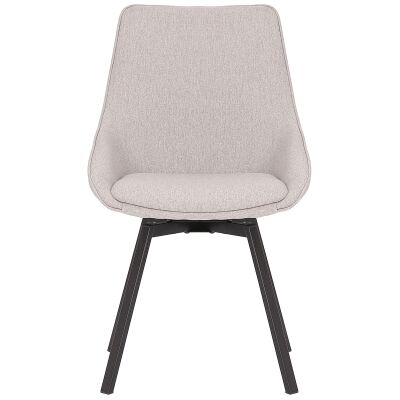 Nemo Commercial Grade Stain Resistant Waterproof Fabric Swivel Dining Chair, Light Grey