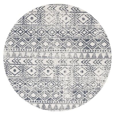 Oasis Ismail Tribal Round Rug, 240cm, Blue