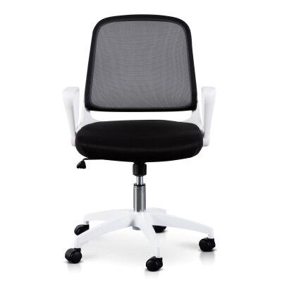 Burston Fabric Office Chair, White / Black