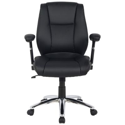 Eaton PU Leather Manager Office Chair, Black