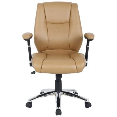 Eaton PU Leather Manager Office Chair, Beige