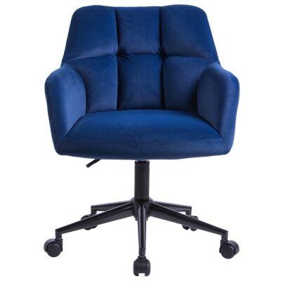 Kudos Velvet Fabric Office Chair, Blue