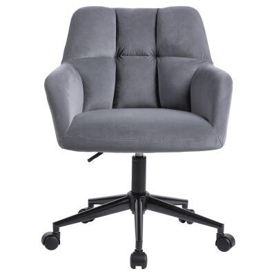 Kudos Velvet Fabric Office Chair, Grey