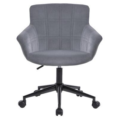 Lunan Velvet Fabric Office Chair, Grey