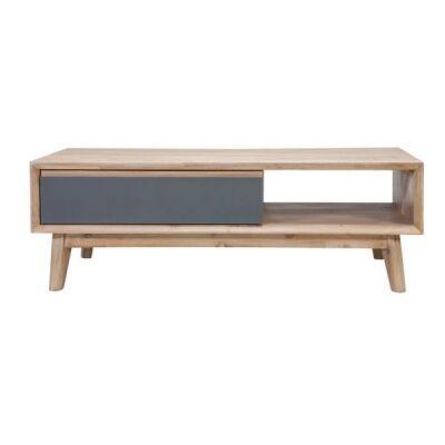 Templeton Acacia Timber 2 Drawer Coffee Table, 120cm