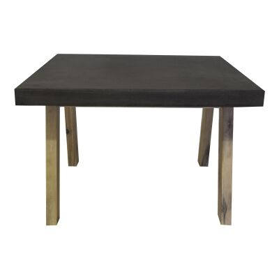 Uptown Concrete & Acacia Timber Lamp Table