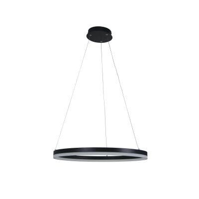 Cronus Metal Dimmable LED Halo Pendant Light, Black