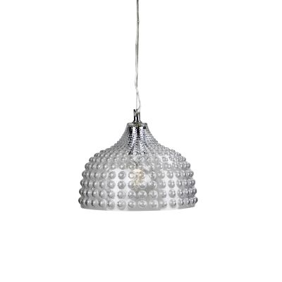 Cara Glass Pendant Light, Clear