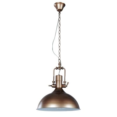 Cottage Metal Pendant Light, Brown