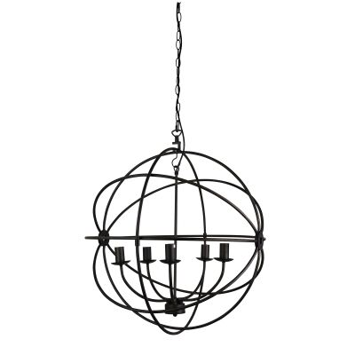 Columbus II Metal Wire Open Spherical Pendant Light