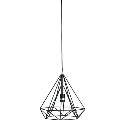 Lenox Metal Wire Pendant Light, Black