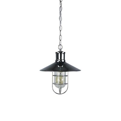 Vernon Caged Metal Pendant Light, Chrome
