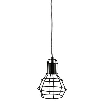 Work Metal Wire Pendant Light, Black