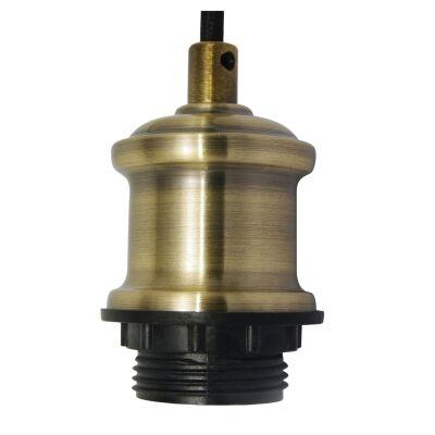 Albany Pendant Light Cord Suspension, Antique Brass