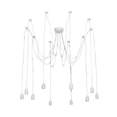 Philly Multi Drop Pendant Light Suspension, 10 Light, White