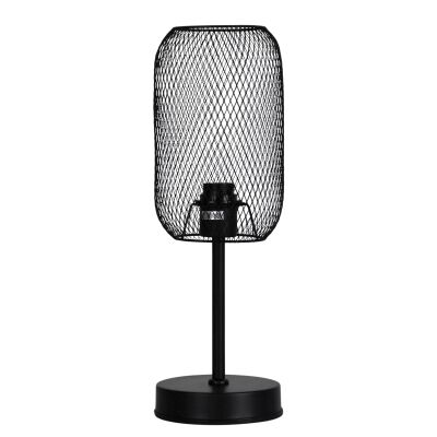 Brazz Mesh Metal Touch Table Lamp, Black