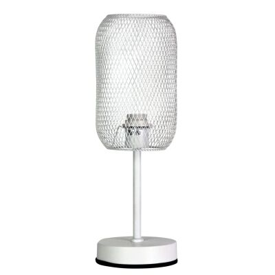 Brazz Mesh Metal Touch Table Lamp, White