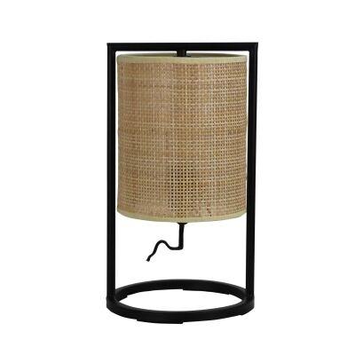 Mandalay Rattan & Metal Table Lamp