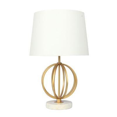 Loxton Metal & Marble Base Table lamp
