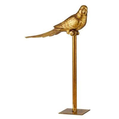 Zuni Parrot on Stand Sculpture