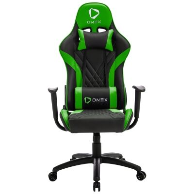ONEX GX2 Gaming Chair, Black / Green