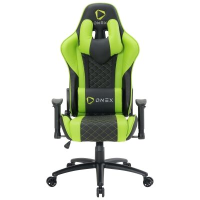 ONEX GX3 Gaming Chair, Black / Green