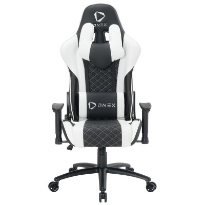 ONEX GX3 Gaming Chair, Black / White