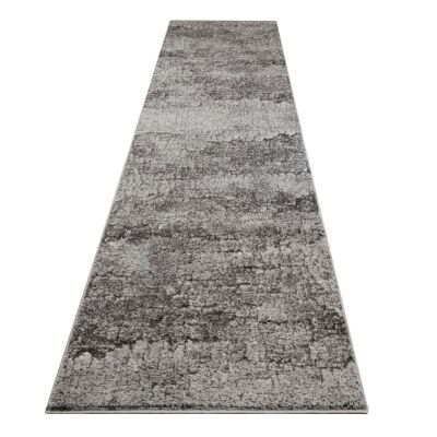 Lavish Keystone Modern Runner Rug, 80x300cm, Granite