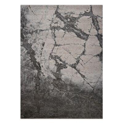 Lavish Leopolis Modern Rug, 80x150cm, Slate