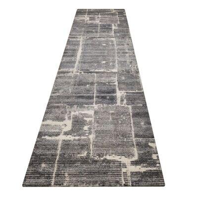 Lavish Chelsea Modern Runner Rug, 80x300cm, Granite