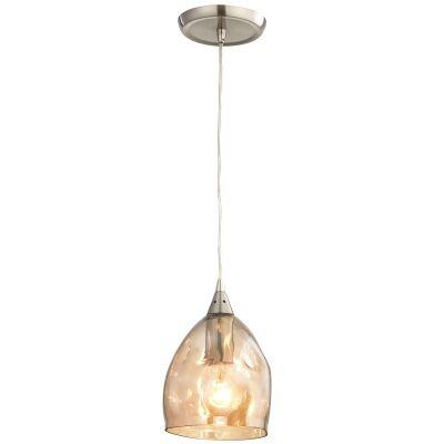 Ordito Glass Pendant Light, Champagne