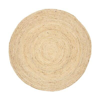 Organica Reversible Jute Round Rug, 240cm, Natrual