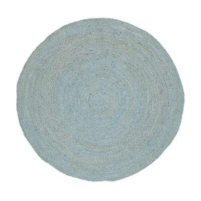Organica Reversible Jute Round Rug, 150cm, Blue