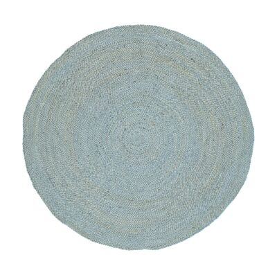 Organica Reversible Jute Round Rug, 200cm, Blue