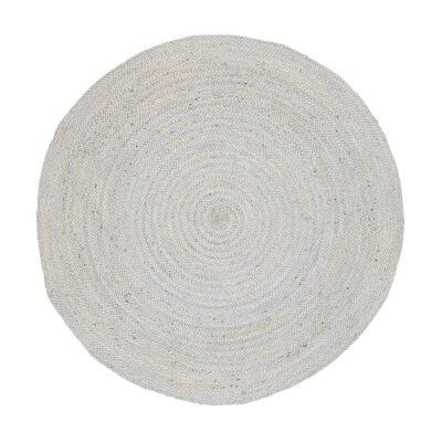 Organica Reversible Jute Round Rug, 150cm, Silver