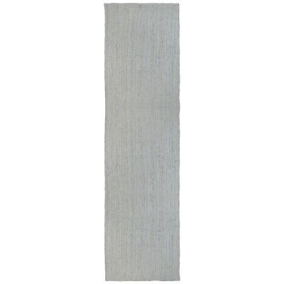 Organica Reversible Jute Runner Rug, 80x300cm, Silver